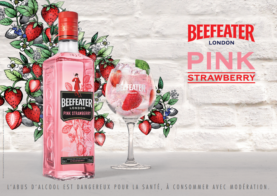 Key visual de beefeater london pink strawberry