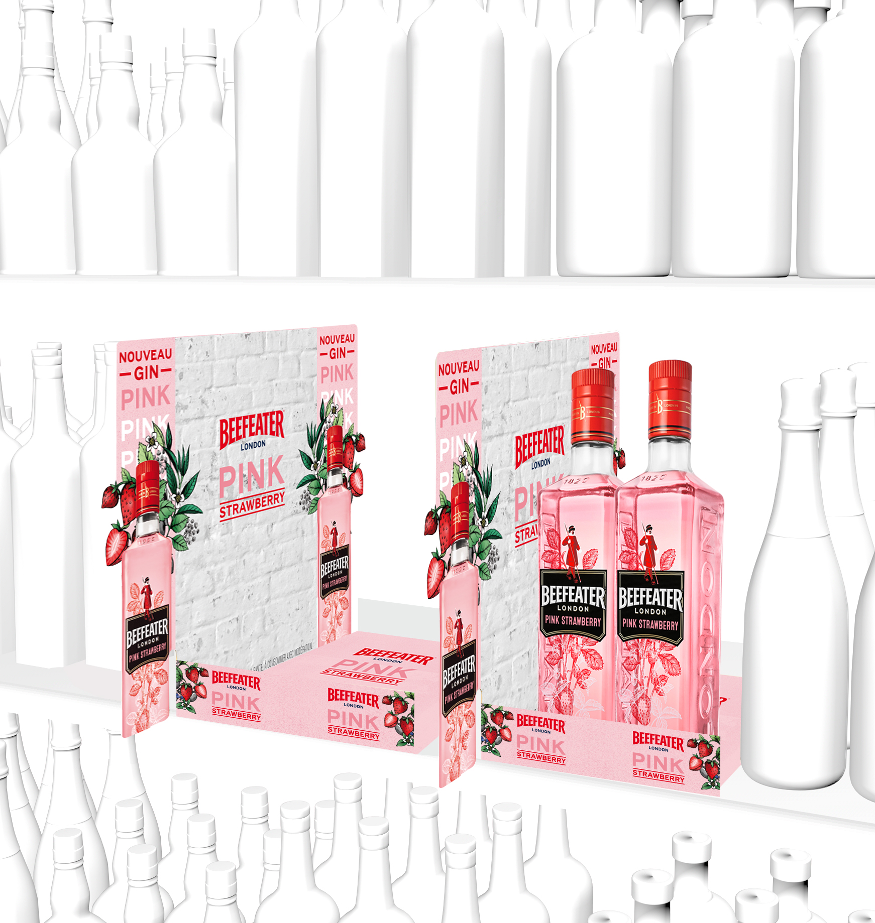 Stop rayon beefeater pink strawberry